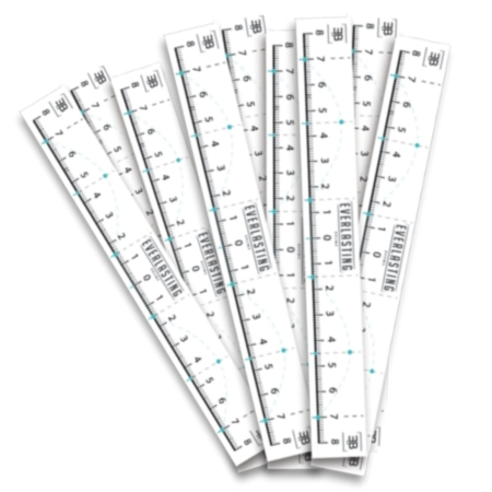 Eyebrow measuring tapes